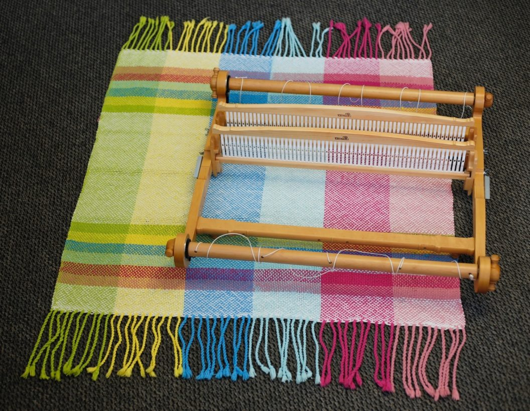 double weave part 1 how to warp a second heddle kromski spinning